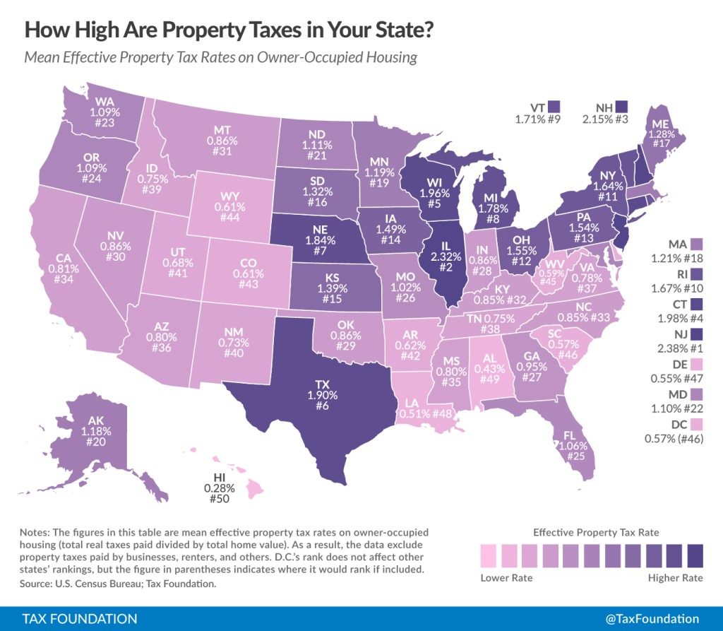 Map Of Property Tax Rate