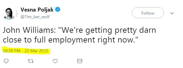 Fed President Wrong About Full Employment 3 Years Ago
