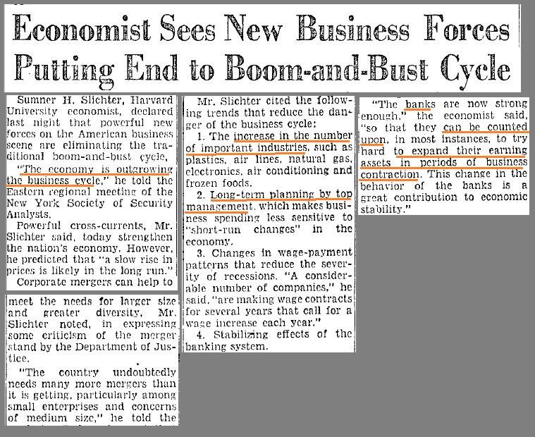 No More Recessions Ever Again?